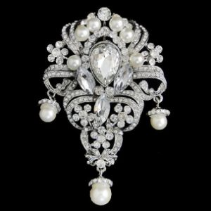 CHIC WEDDING BROOCH - IVORY (BROOCH 118)