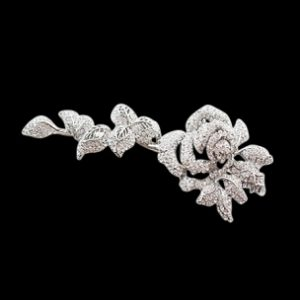 CRYSTAL BRIDAL HAIRDRESS BROOCH - CLEAR