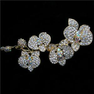 CRYSTAL SPARKLE BRIDAL BROOCH - GOLD (BROOCH 68)