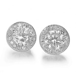 CUBIC ZIRCONIA COLLECTION - SPARKLY STUD EARRINGS - CZER360