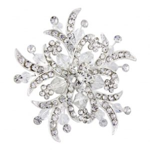 ROMANTIC BRIDAL BROOCH - BRC4- SASSB