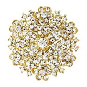 STARLET BRIDAL BROOCH - GOLD2