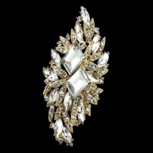 VINTAGE BRIDAL BROOCH - GOLD (BROOCH 8)