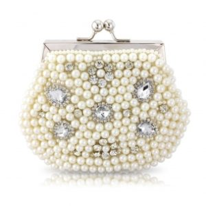 VINTAGE CHIC PEARL CLUTCH - IVORY
